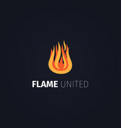 flame united logo template vector image vector image