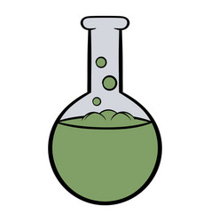 flask with liquid icon cartoon vector image