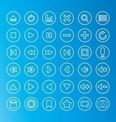 Media Icon line vector image vector image