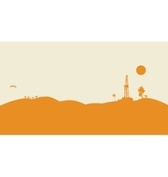 Oil drilling background vector image