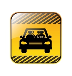 Road sign square of car crossing vector