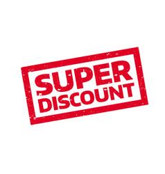 Super discount rubber stamp vector