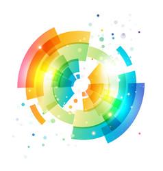 techno geometric circle on white vector image