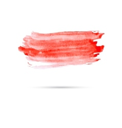 Watercolor background with red paint vector image vector image