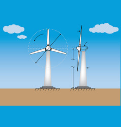 12wind power energy vector image vector image
