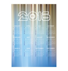 2016 simple business wall calendar abstract blue vector image vector image