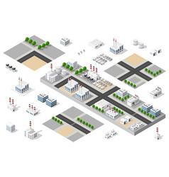city urban factory vector image