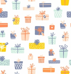 Party presents seamless pattern vector image vector image