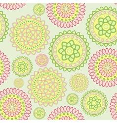 round geometric flower vector image