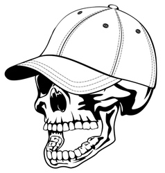 skull in cap vector image vector image