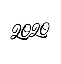 2020 hand written lettering text vector image