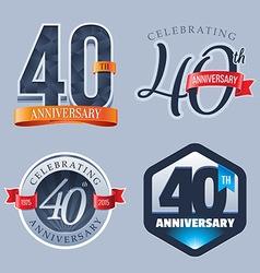 40 years anniversary logo vector