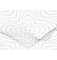 abstract black and gray wave line circles pattern vector image