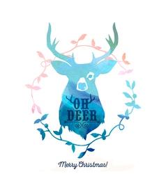 Abstract deer design vector