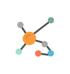 Atom biochemistry biology dna genetic flat color vector