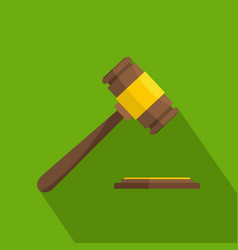 auction gavel icon flat style vector image