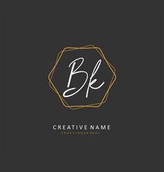 B k bk initial letter handwriting and signature vector