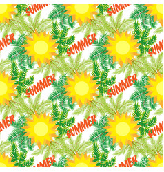 Background of tropical beach holiday vector