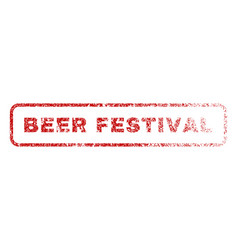 beer festival rubber stamp vector image vector image