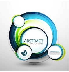 Blue bubble abstract banner vector image