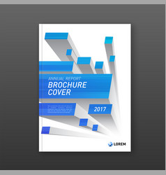 Brochure cover design layout with abstract 3d vector