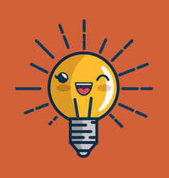 Bulb light big idea character vector