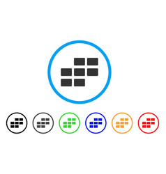 Calendar rectangle grid rounded icon vector