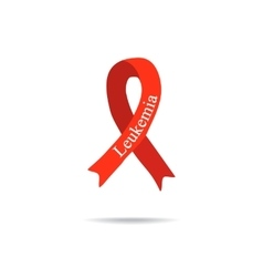 Cancer Ribbon Leukemia International Day of vector image