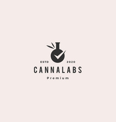 cannabis lab test check certified certificate vector image