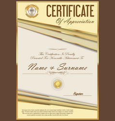 Certificate retro design template 04 vector