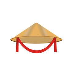 Chinese conical straw hat asian vietnamese vector