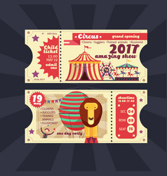 circus magic show ticket vintage design vector image