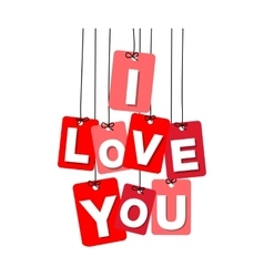 Colorful hanging cardboard Tags - i love vector