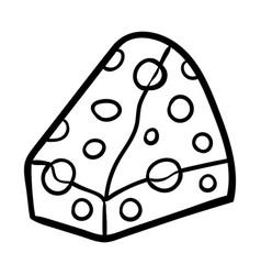 Coloring book cheese vector