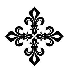 croix fleurdelise vector image