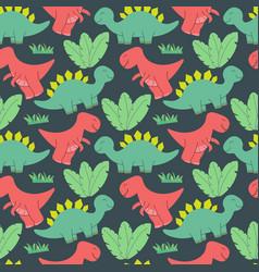 cute dinosaurs pattern design seamless pattern vector image