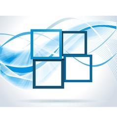Dark blue frames vector image
