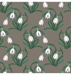 Delicate white snowdrops vector image