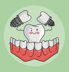 Dental care cartoons vector