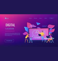 digital classroom landing page vector image
