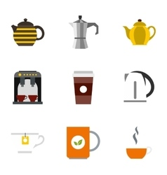 Drink icons set flat style vector image