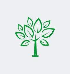 eco tree icon in thin line style vector image