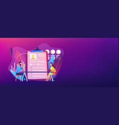 Employee assessment concept banner header vector