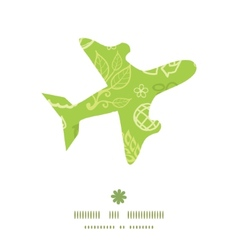 Environmental airplane silhouette pattern frame vector