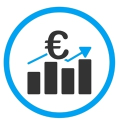 Euro Business Chart Rounded Icon vector image