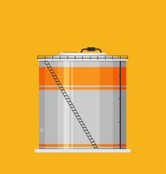 Flat oil tank icon vector