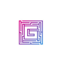 g maze letter logo icon design vector image