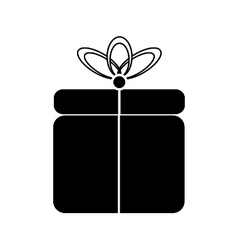 Gift symbol icon on white vector image