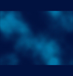 halftone dots background light and dark blue vector image