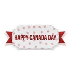 Happy Canada Day realistic Banner vector image